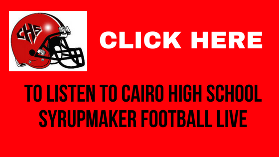 Click anywhere on this image to start the LIVESTREAM of Cairo High School Football